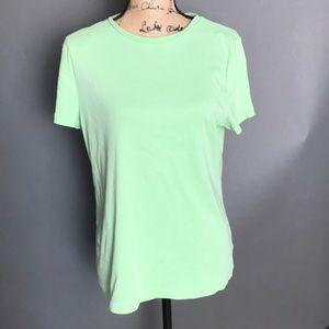 Talbots Crew Neck Tee short sleeved green tee XL